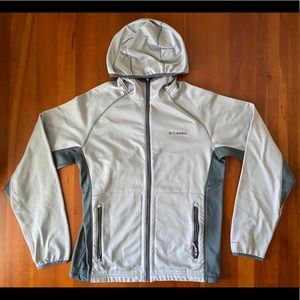 Columbia Omni-Wick Full Zip Grey Hoodie Jacket M